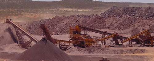 stone crushing and screening plant